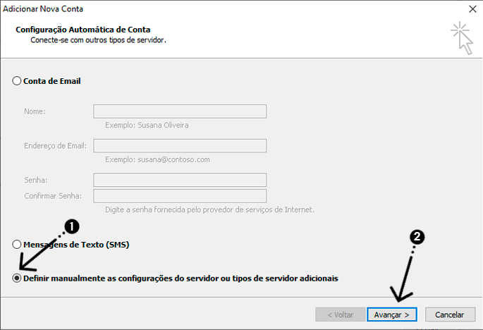 como configurar o outlook 003